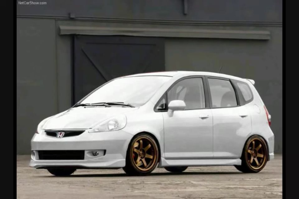 Honda#Fit, Nice combo white and Bronze