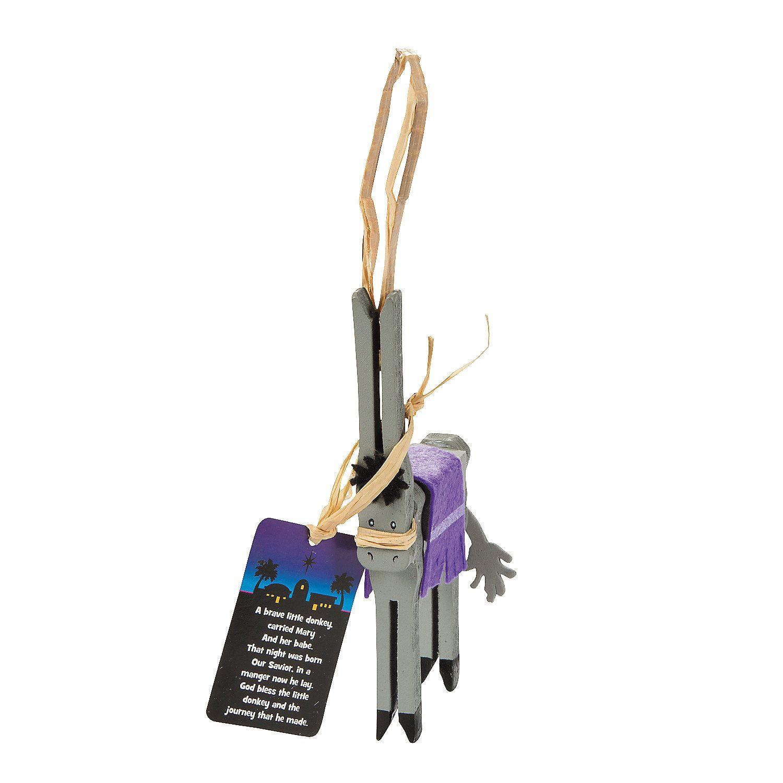 Christmas ornament craft kit - Legend Of The Donkey Clothespin Christmas Ornament Craft Kit Orientaltrading Com