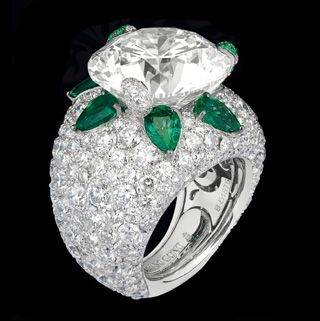 Fawaz Gruosi,fabulous diamond and emerald ring~ exquisite