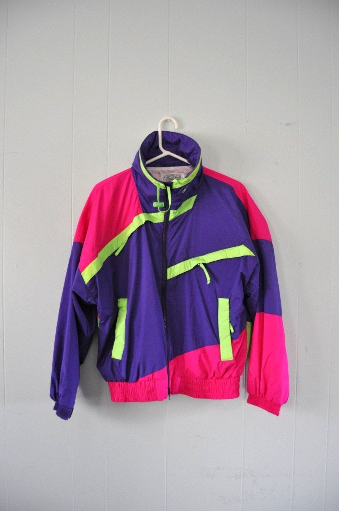 df587b6578840 colorful 90's jacket #vintage #colorful #cbsports #apparel #cb ...
