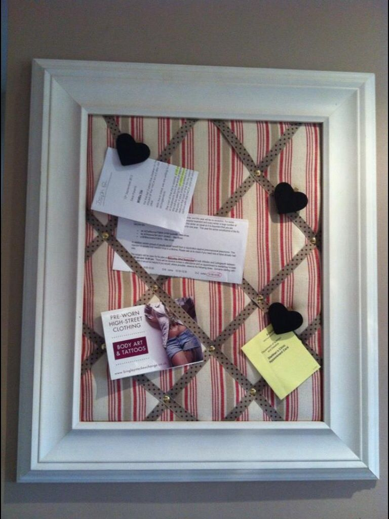how to make a fabric covered notice board