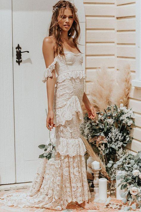 Vestiti Da Sposa Zingara.Isabell Andreeva Wears Spell Bride Estelle Gown Abiti Da Sposa
