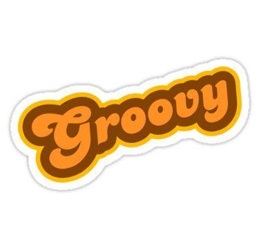 Groovy , Retro 70s , Logo\u0027 Sticker by graphix