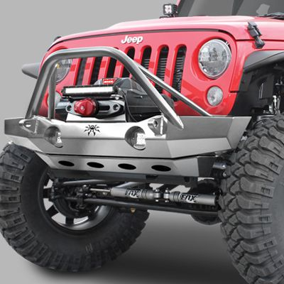 Poison Spyder Brawler Mid Width Front Bumper With Brawler Bar For