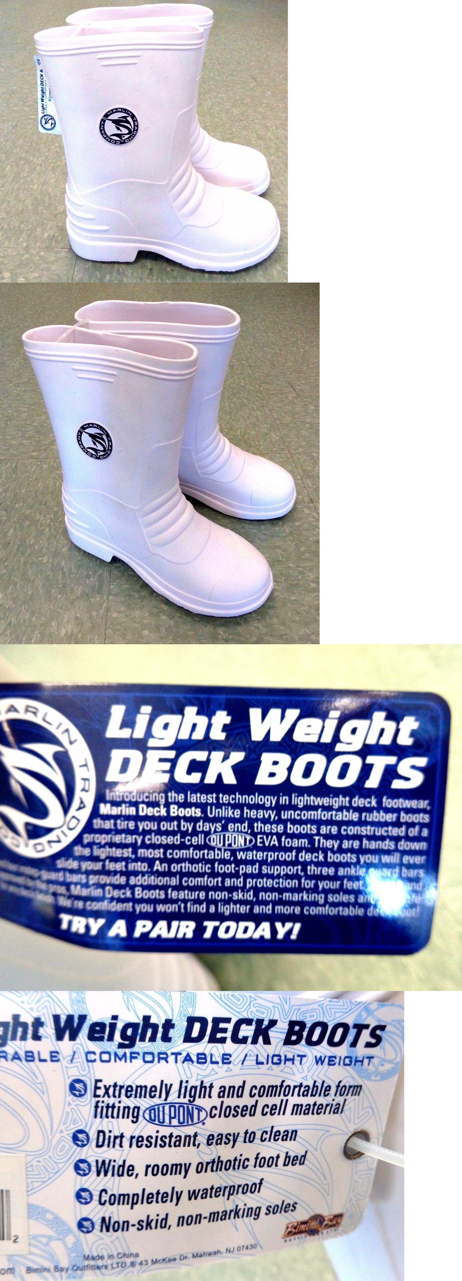 Boots and Shoes 179980: Marlin Deck Boots - Lightweight All Purpose Fishing Boots - White - Select Size -> BUY IT NOW ONLY: $31.99 on eBay!