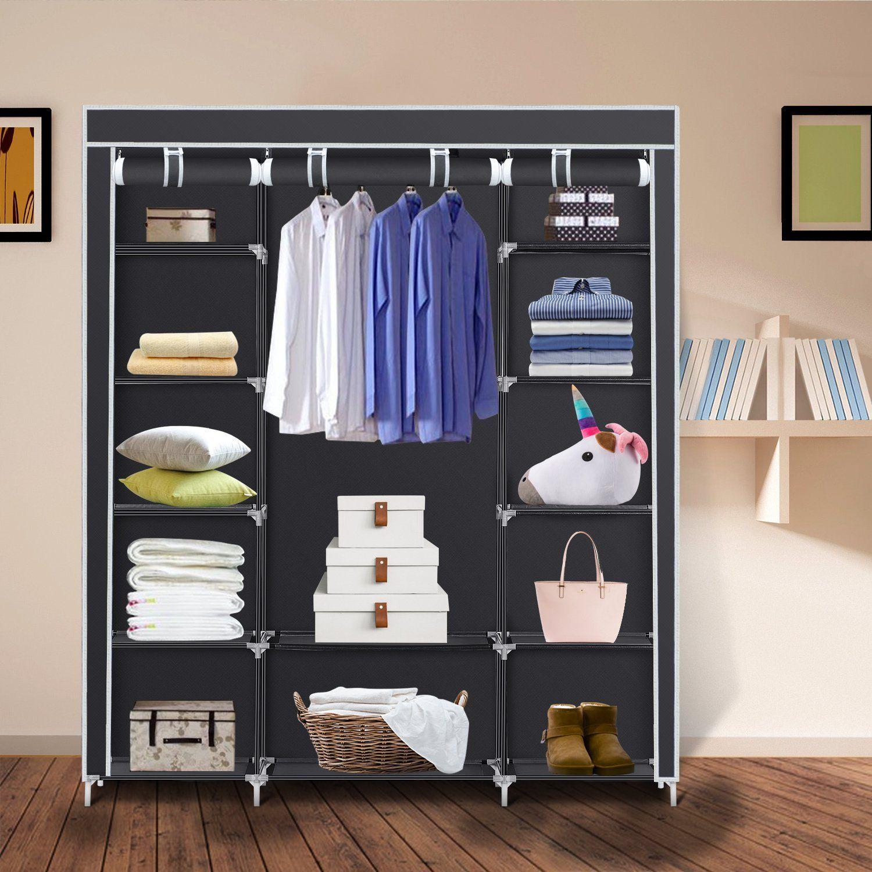 Amazon Com Clothes Closet Portable Storage Organizer Wardrobe