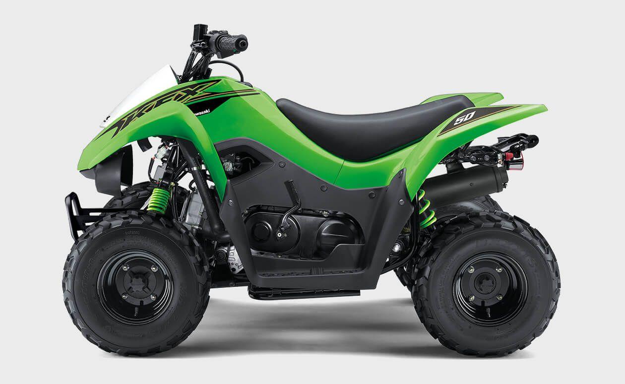 Kawasaki Kfx50 Youth Atv Introductory Four Wheeler In 2020 Youth Atv 50cc Atv Atv
