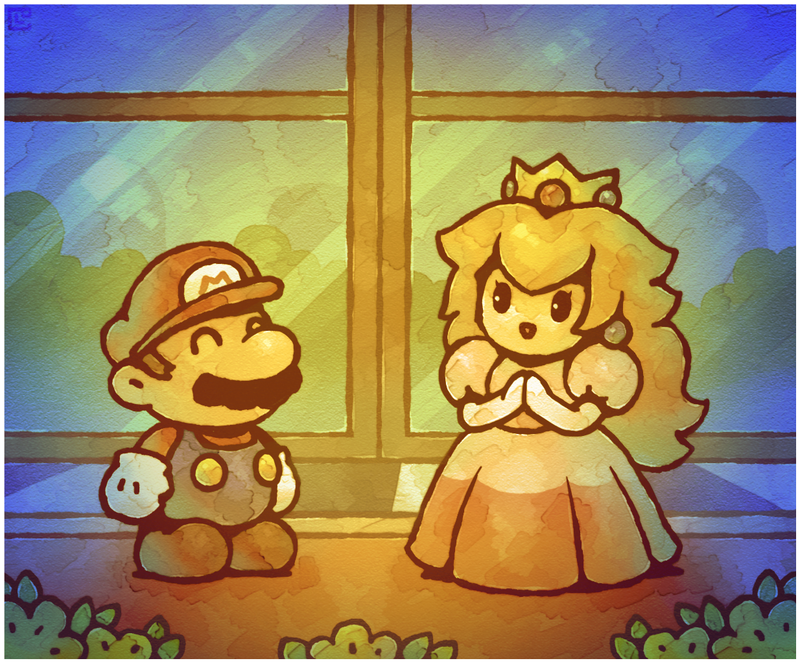 Paper Mario 64 Meeting Peach by on
