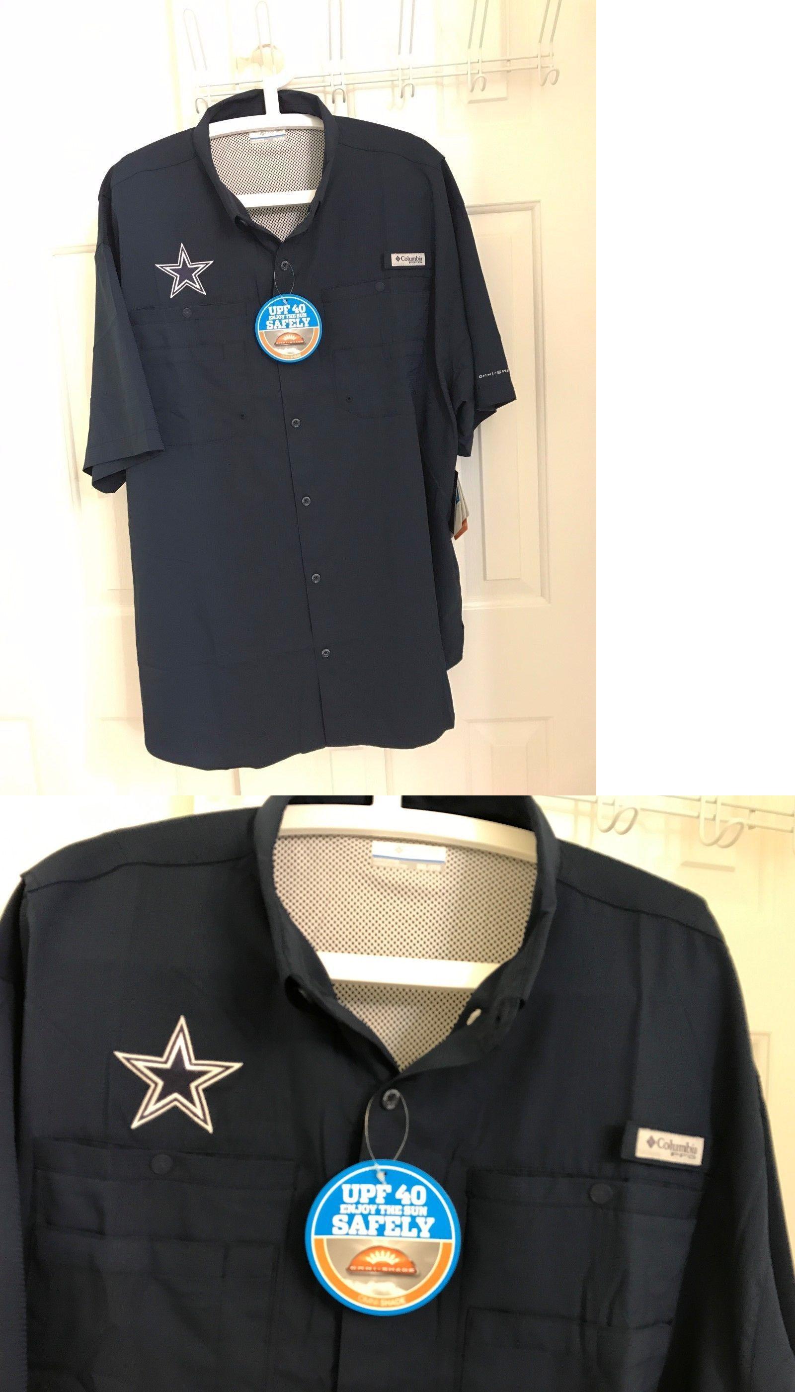 e12ca3c0a Shirts and Tops 179982  New Columbia Men S Dallas Cowboys Columbia Tamiami  Short Sleeve Shirt