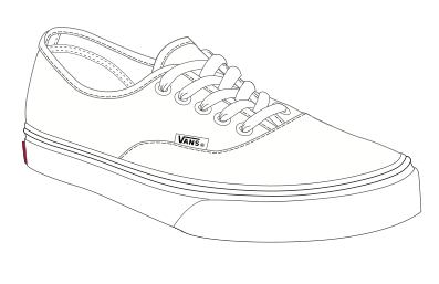 257844a0e80b Baldauf Blogart For Fun Van Sneaker Art Into Clay Shoes Sketch Coloring Page