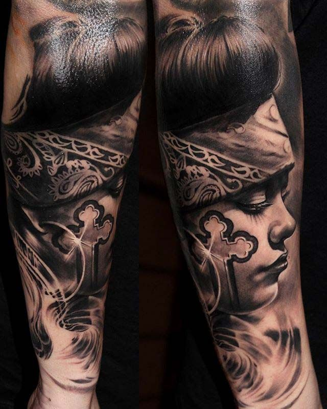 Chicano Tattoo Design Chicas Tattoo Tatuajes Brazo Chicano Y
