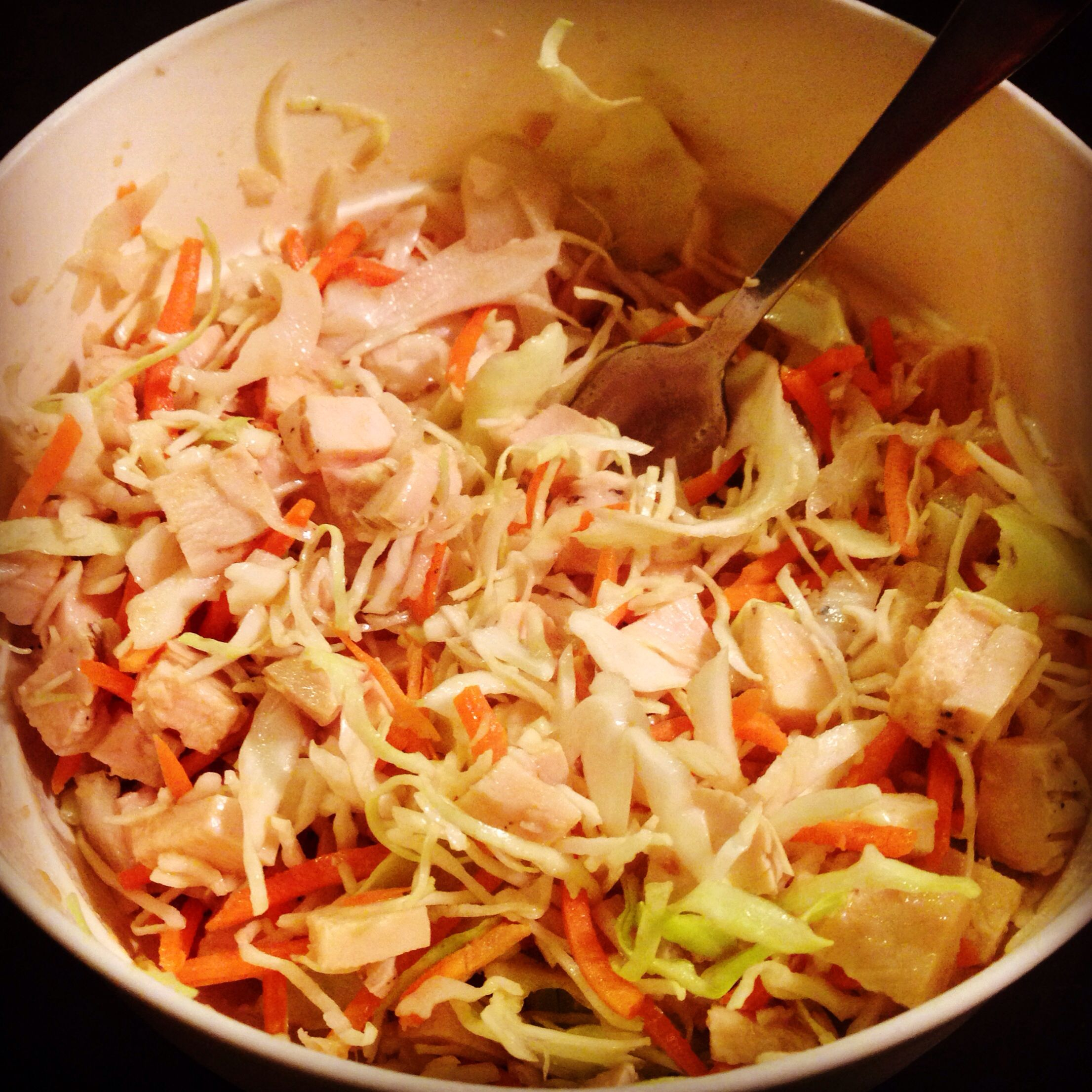 chinese chicken salad on the 21dayfix 1 1/2 green of