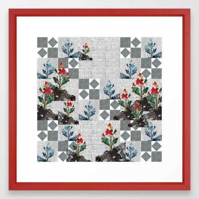 Memory garden Framed Art Print by Bozena Wojtaszek   Society6