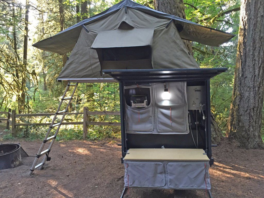 Nomad Hitch C&er with Roof Top Tent u0026 Annex & Nomad Hitch Camper with Roof Top Tent u0026 Annex   Roof top tent ...