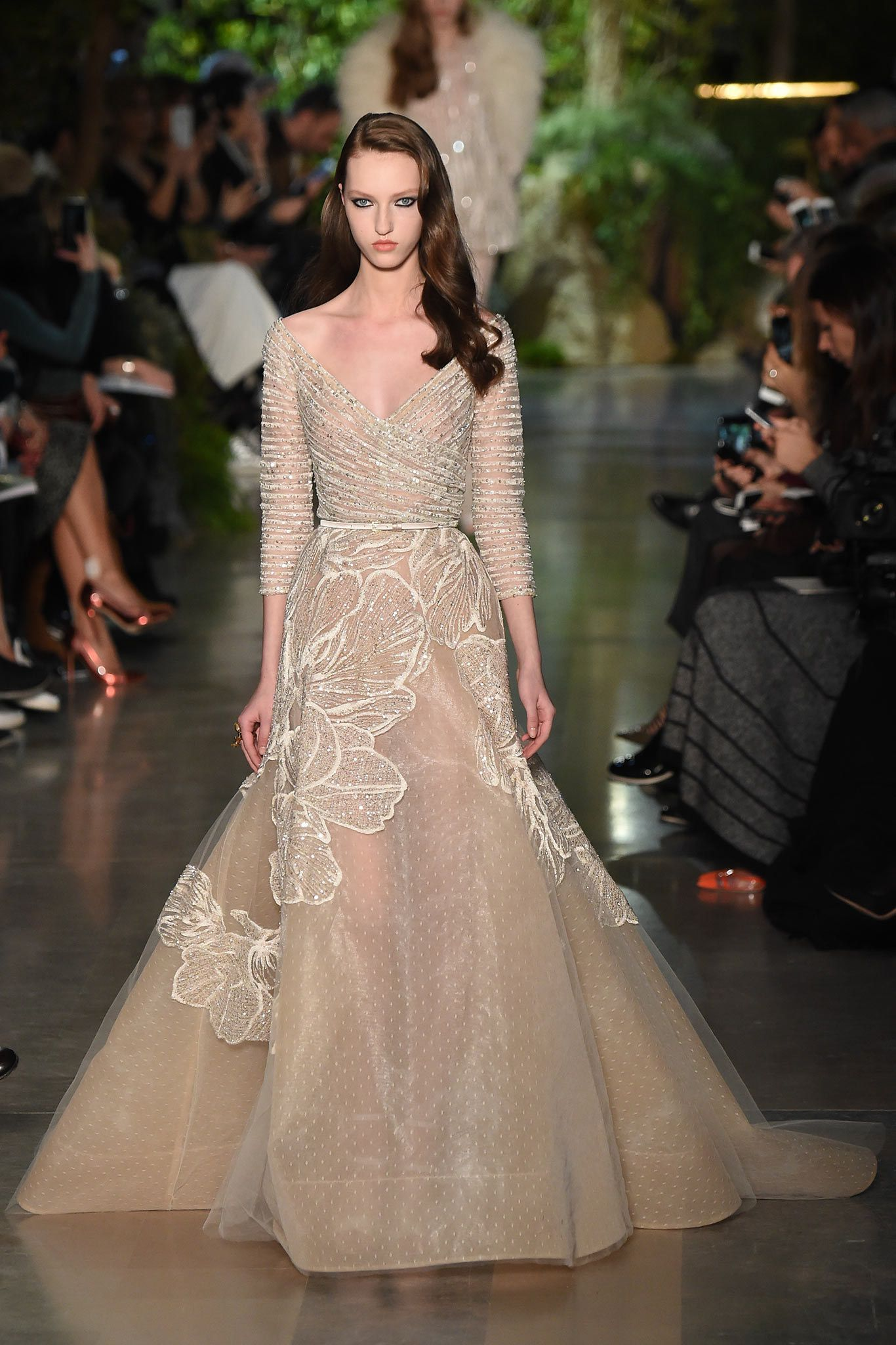 Elie Saab Spring 2015 Couture Fashion Show - Lindsey Wixson