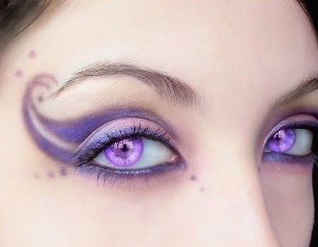 fairy makeup on romantic fairy using a scale of purple and