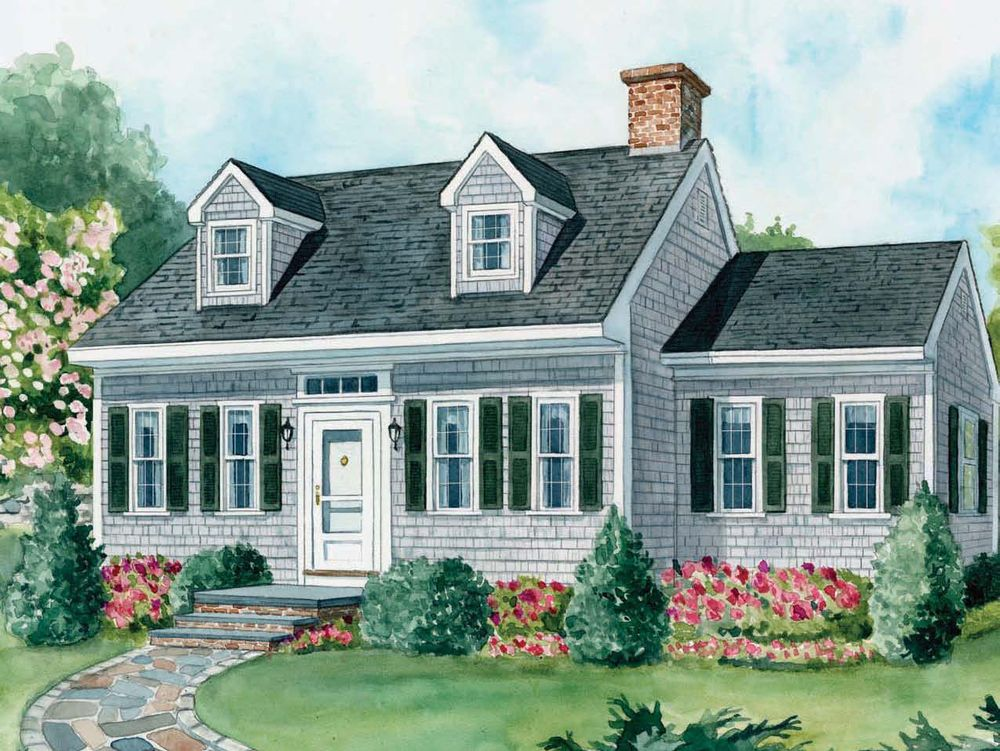 Landscaping for cape cod style houses plains home for Cape cod architecture