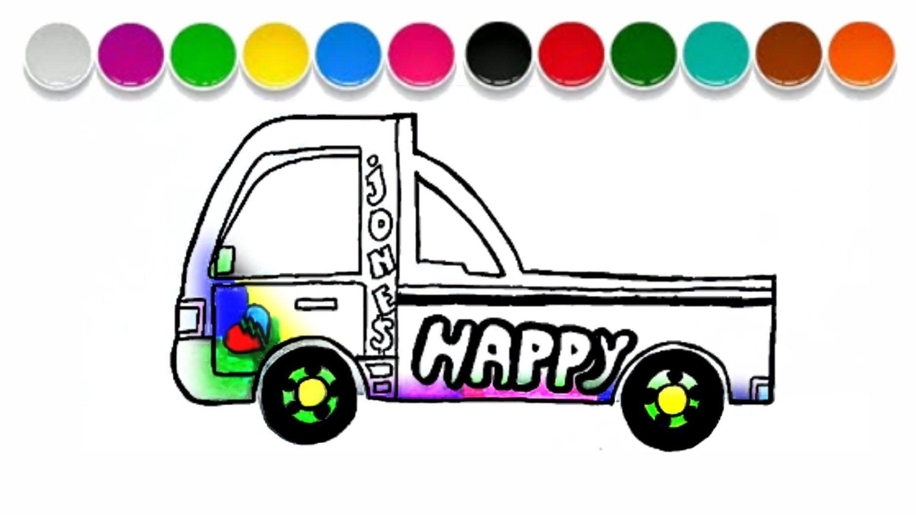 ragam contoh 20 mewarnai gambar truk sah