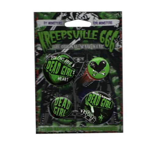 Kreepsville 666 - Dead Girl Badge Set