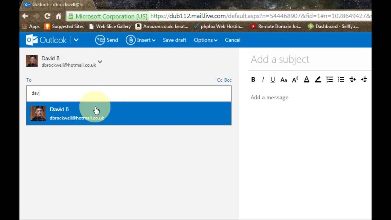Outlook Webmail The Basics Microsoft Corporation Outlook Webmail