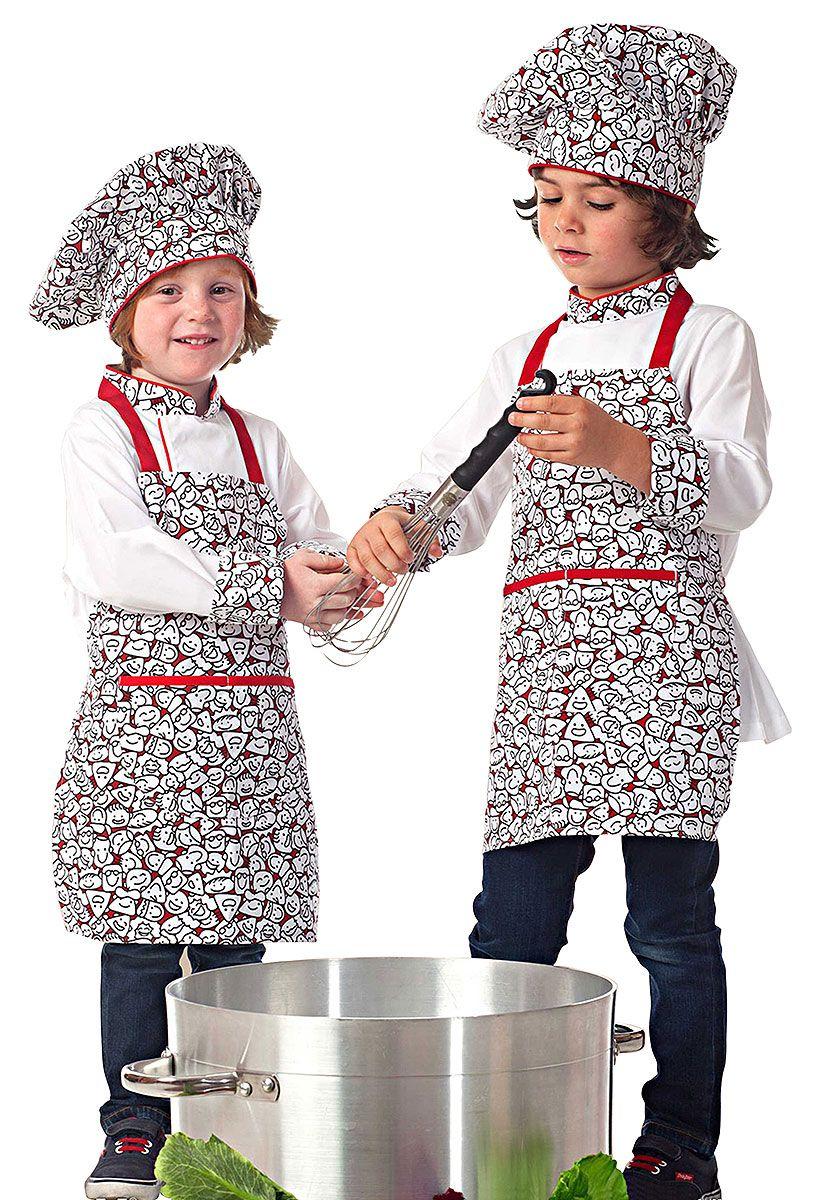 d3f10d2e855 Conjunto Super Kids Chef | Delantales | Uniformes de cocina ...