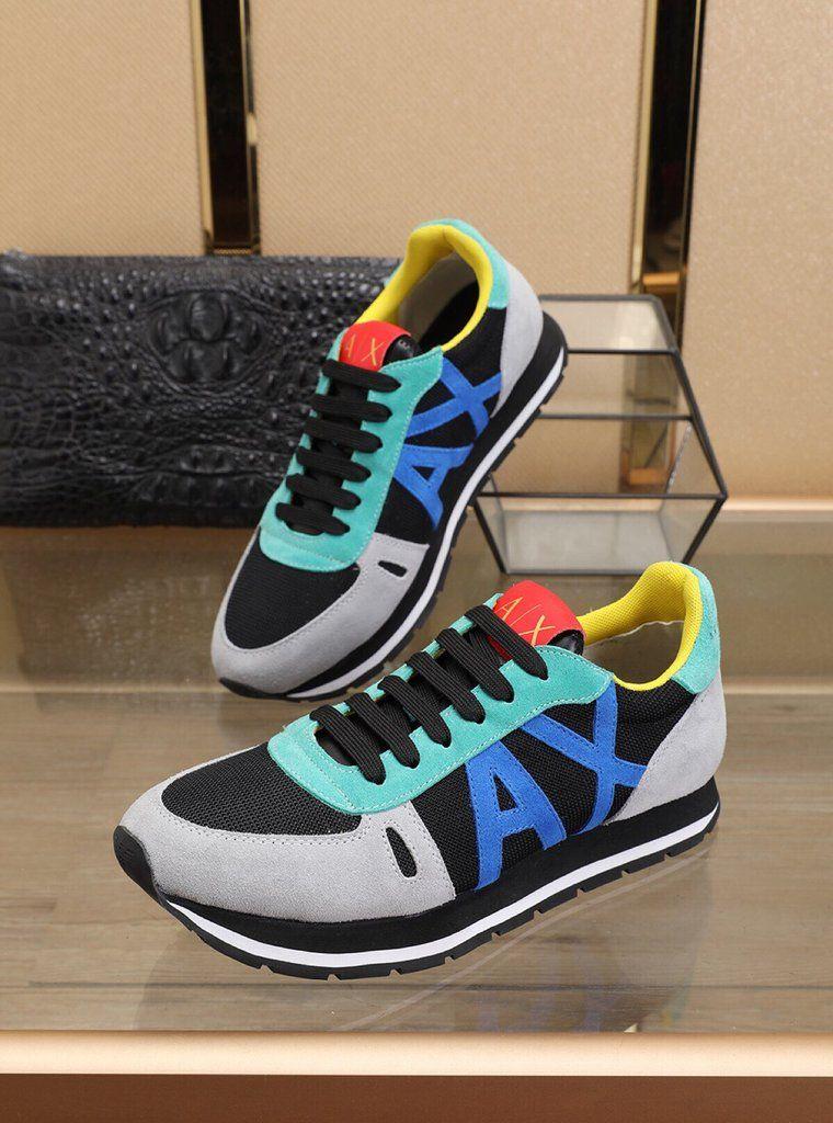 Armani Exchange Men S Jogger Sneakers Multicolor Acharitystore Armani Exchange Shoes Armani Exchange Men Sneakers Multicolor