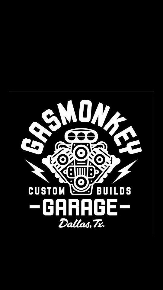 Gas Monkey Garage Logo Camiseta Negro