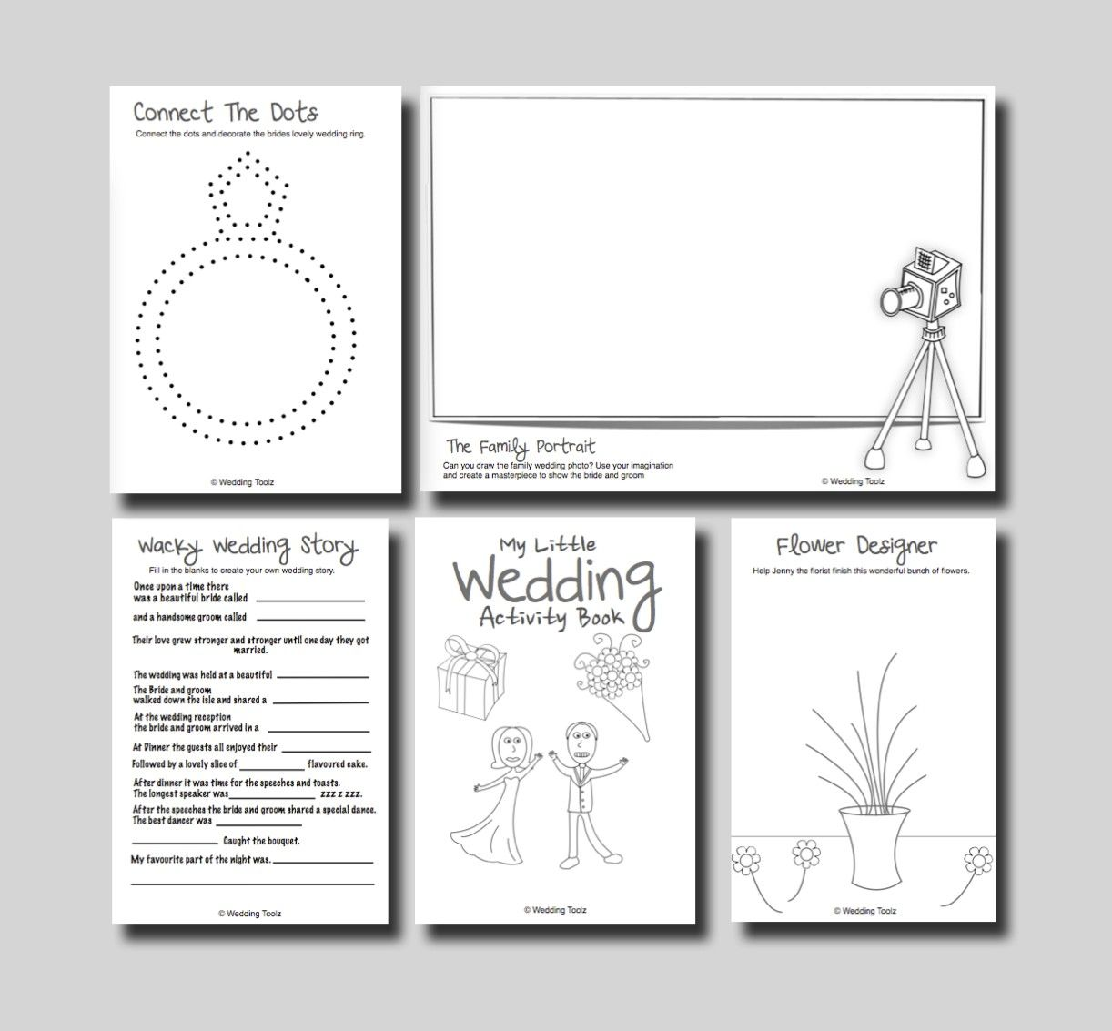 It is a photo of Printable Wedding Activity Book throughout keepsake