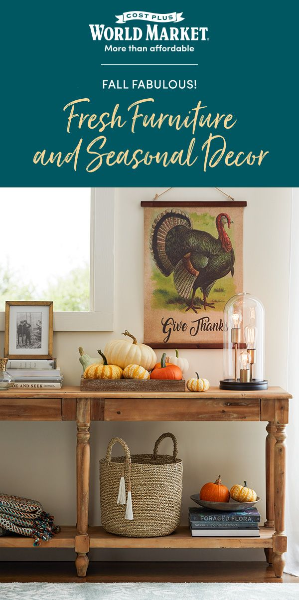 Shop Now At Cost Plus World Market Furniture Fall Decor Update Your Home In Time For Thanksgiving With Worl Decor Fall Decor Dining Table Setting