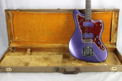 1960 Fender Jazzmaster PURPLE Pre-CBS! Slab-Board Offset! jaguar stratocaster scale j. mascis  > Guitars Electric Semi-Hollow Body | Kansas City Vintage Guitars #vintageguitars