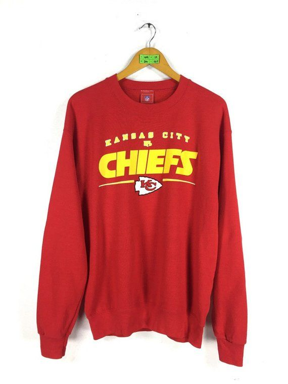 KANSAS CITY Chiefs Nfl Sweatshirt Men Medium 80s Vintage Kc Chiefs  Sweatshirt American Football Rugb 3ffa14ada110