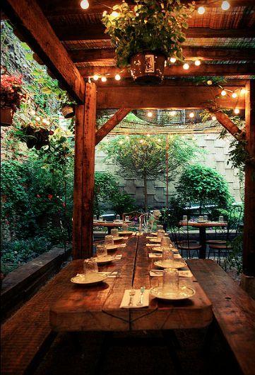 Mominette S Garden Banquet Table Beer Garden Design Courtyard Design Outdoor Restaurant