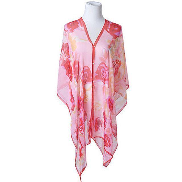 Lucylizz 2017 Women Printed Beach Cover up Swimwear Tunic Sarongs Summer Swimsuit Scarf Beachwear Pareo Dress robe de plage