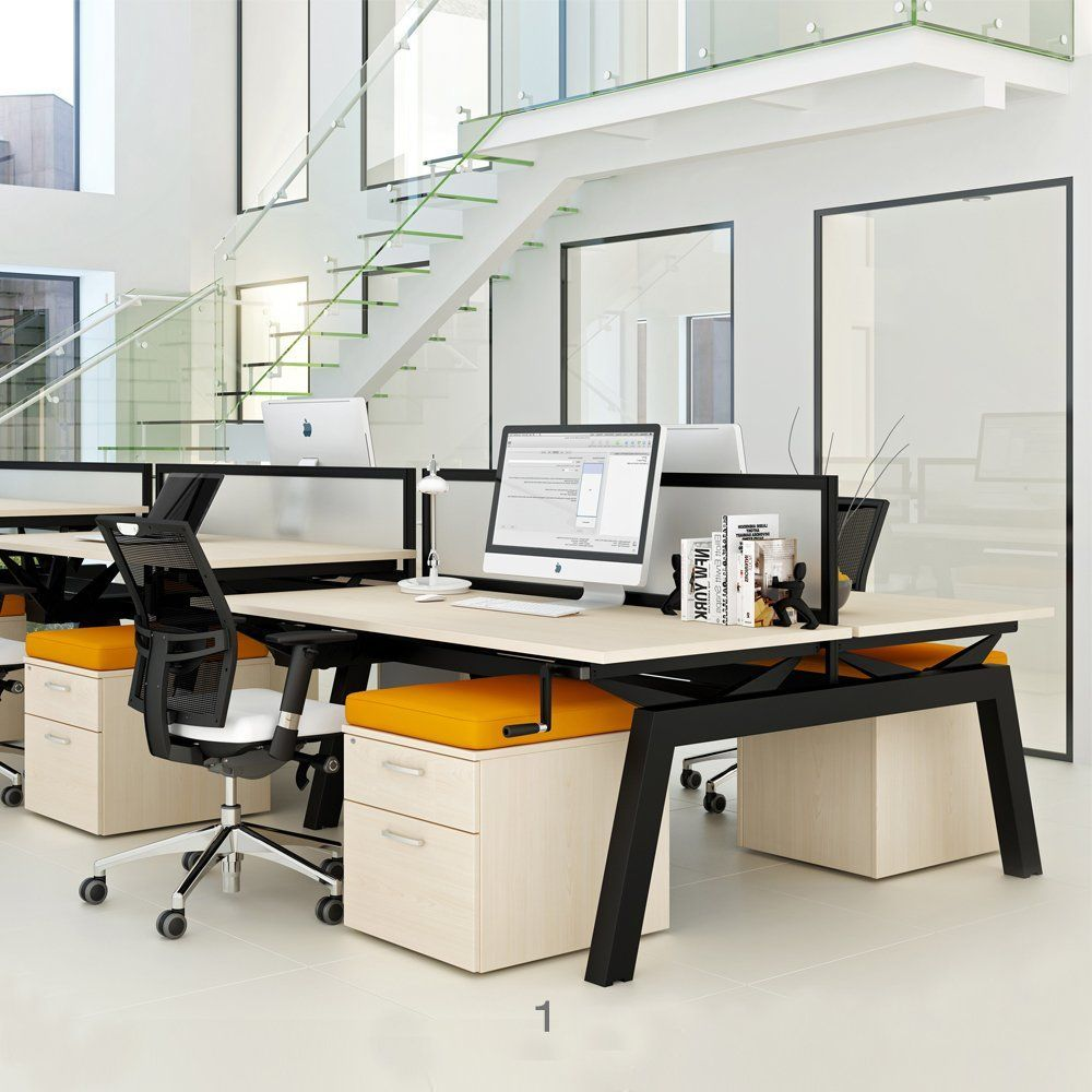 Elevate Height Adjustable Desks Are Designed To Suit Any Office Layout They Comprise Of Various Components Arranged Adjustable Height Desk Office Layout Desk