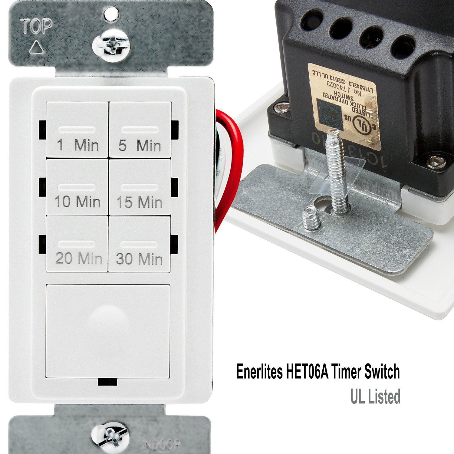 Enerlites Het06A In Wall Countdown Timer Switch For Ventilation Fan Control