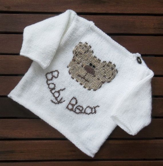 Baby Bear Sweater. PDF Hand Knitting от TheDesignStudioKnits