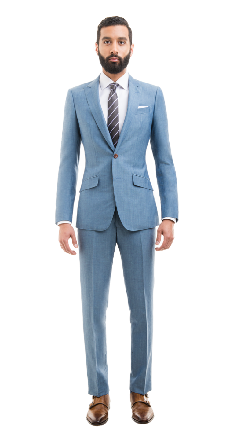 Light Blue Linen Blend Custom Suit | Pinterest | Linen suit and Suit ...