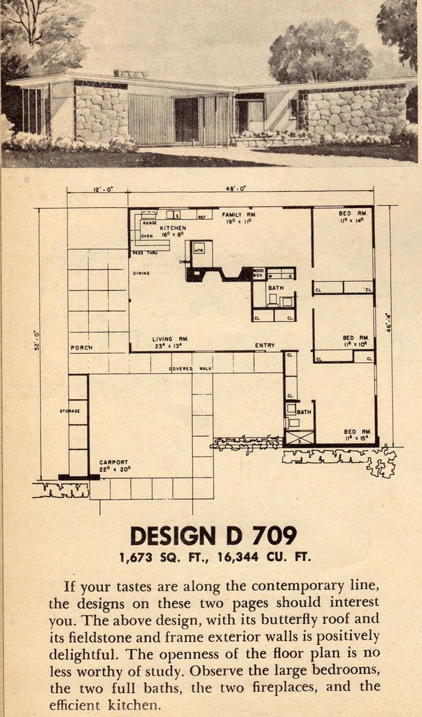 Untitled Modern Floor Plans Mid Century Modern House Plans Mid Century House