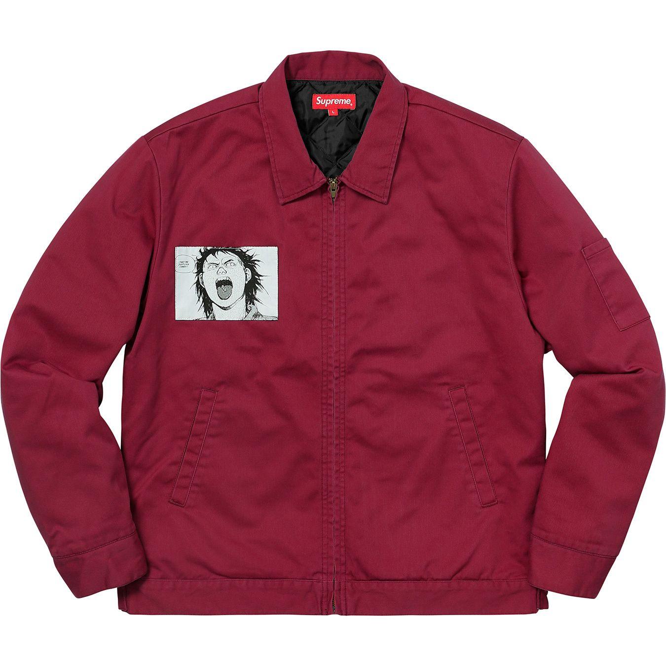 Supreme Akira Work Jacket Light Burgundy Supreme Cloth Work Jackets Jackets Clothes [ 1350 x 1350 Pixel ]