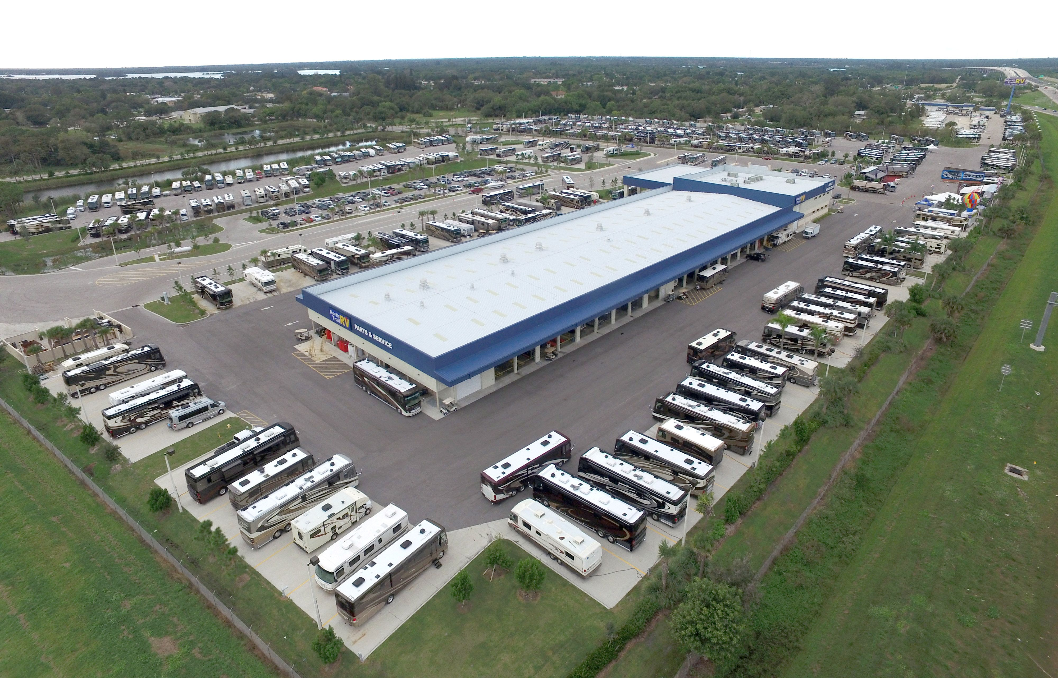 North Trail RV Center Service Department with 100 Service