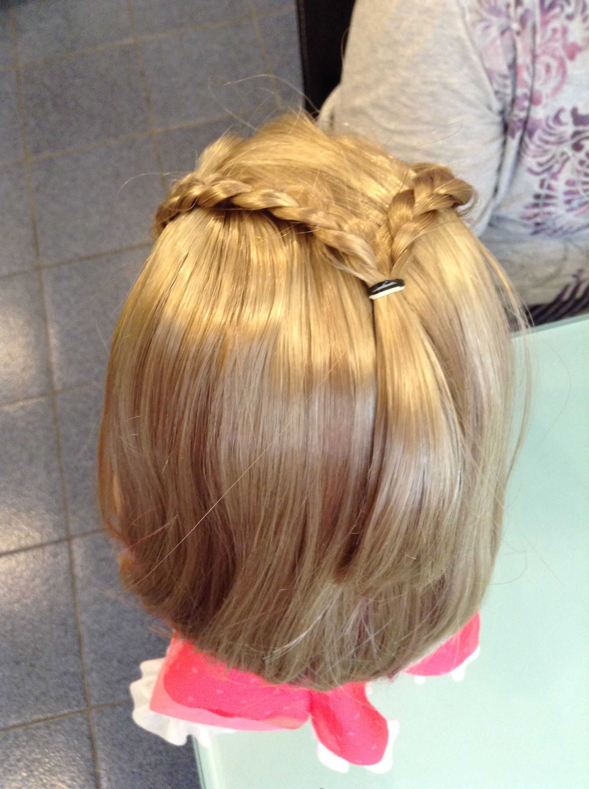 Look how cute thus hairstyle is american girl doll pinterest