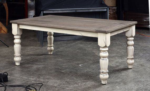 Superb Rustic White Oak Farmhouse Table By Ohiotableco On Etsy In Gmtry Best Dining Table And Chair Ideas Images Gmtryco