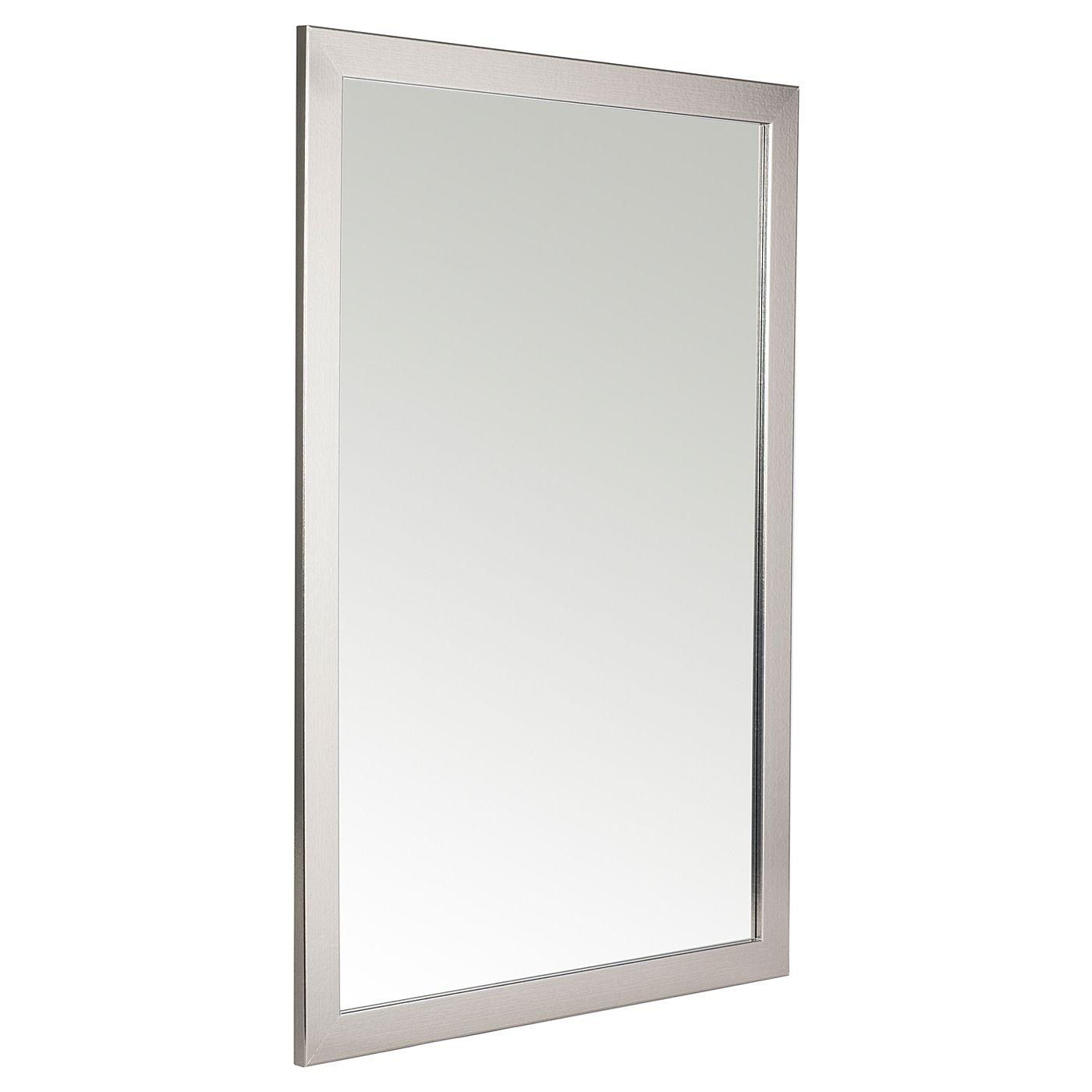 Asda Framed Mirror Pewter 83X53Cm - Mirrors - Asda Direct