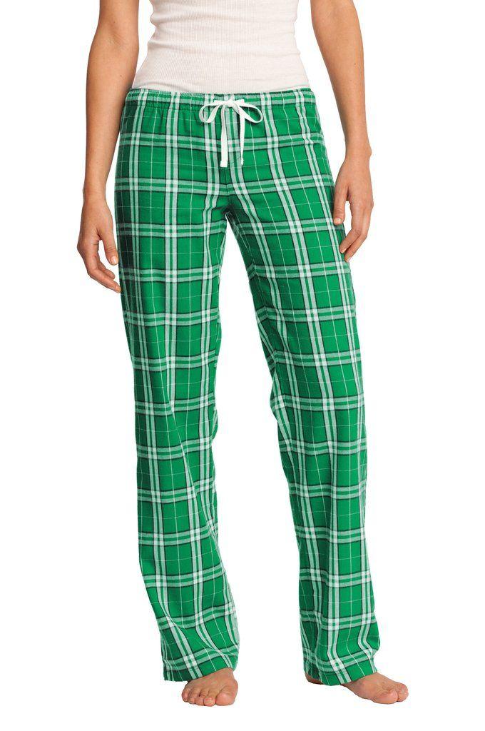 da0ff93462 District Womens Juniors Cotton Flannel Plaid Lounge Pants DT2800