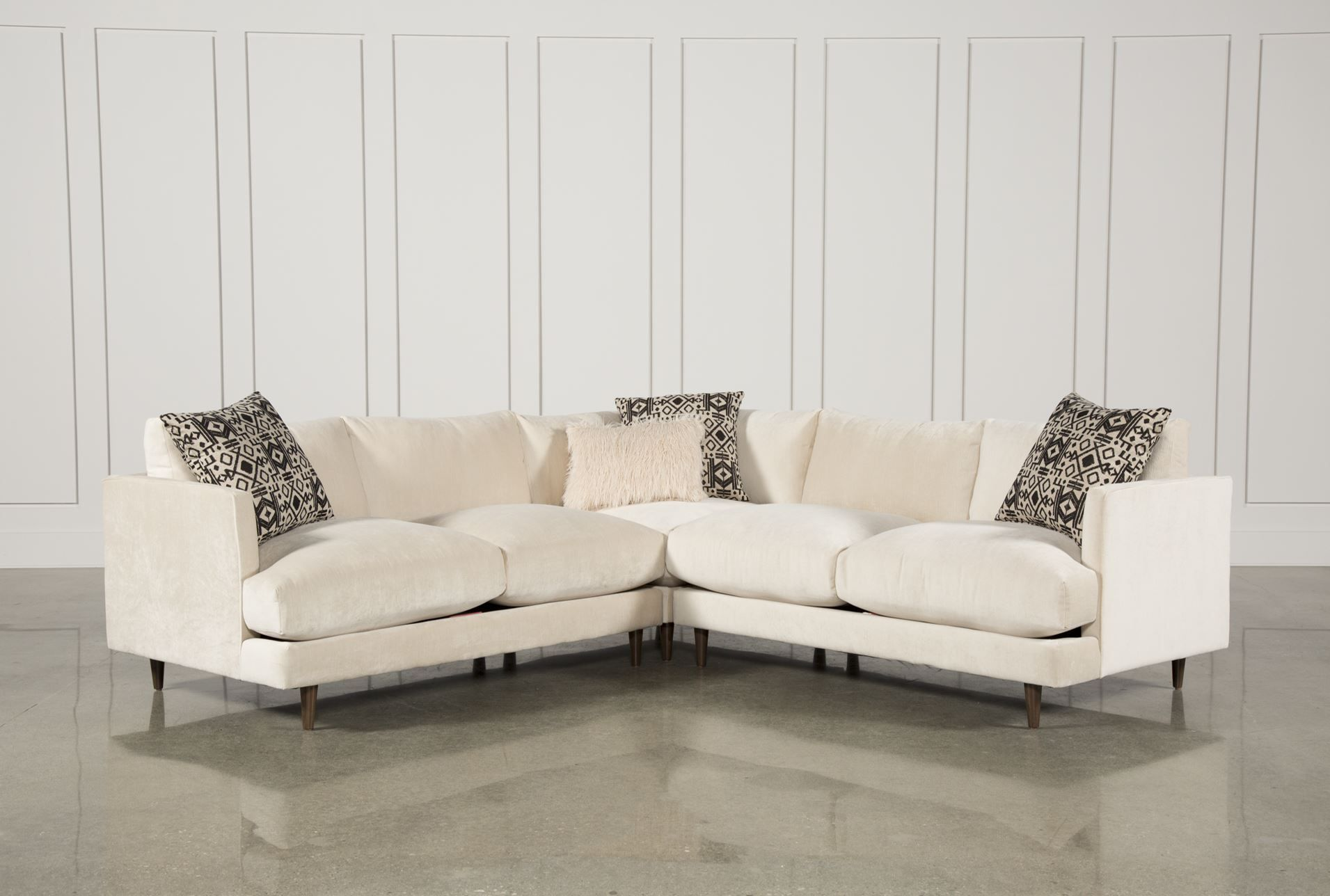 Adeline 3 piece sectional i like the lines of this piece modern yet classic
