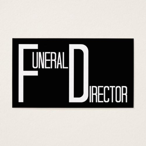 Funeral Director Word Business Card
