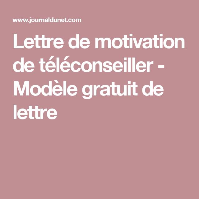 Lettre De Motivation De Téléconseiller Modèle Gratuit De