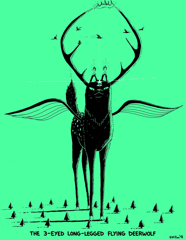3 eyed long legged flying deerwolf my creations pinterest rh pinterest de