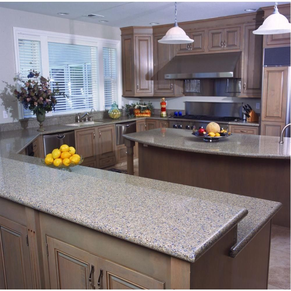 Kitchen Countertops Quartz Colors: Silestone 2 In. X 4 In. Quartz Countertop Sample In Blue
