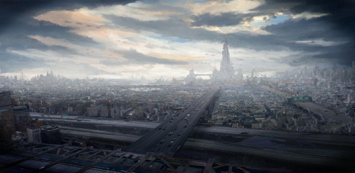 hd sci fi city wallpapers 1080p